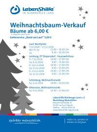 Weihnachtsbaum-Verkauf der Moritzberg-Werkstätten