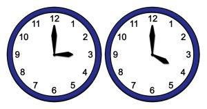 15:00 Uhr oder 16:00 Uhr
