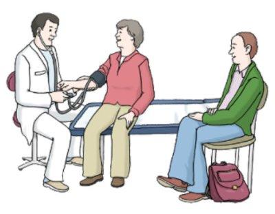 Patienten beim Arzt
