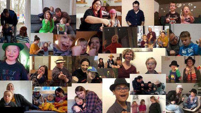Bildercollage mit vielen Kindern und ihren Familien, Bildquelle: WDR