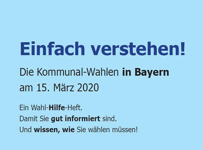 """Wahl-Hilfe-Broschüre """"Leichte Sprache"""""""