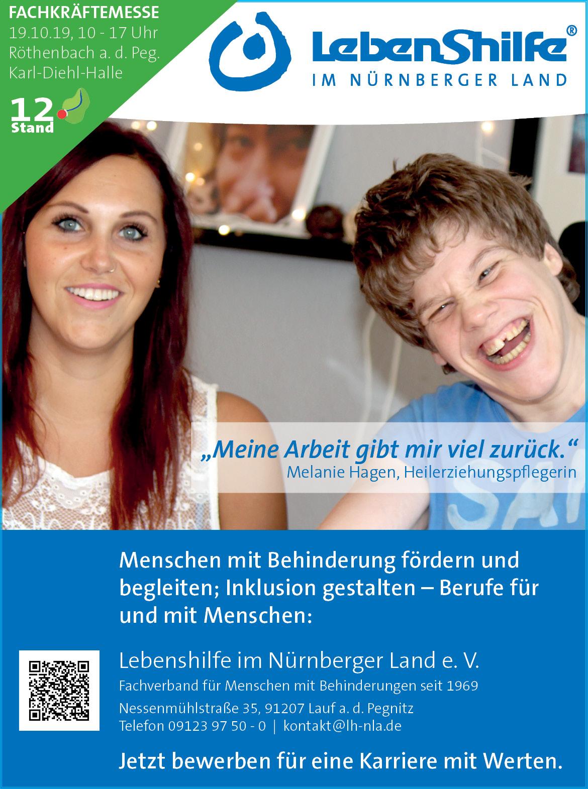 Wir sind am 19.10.19, 10-17 Uhr auf der Fachkräftemesse in Röthenbach a. d. Peg., Karl-Diehl-Halle