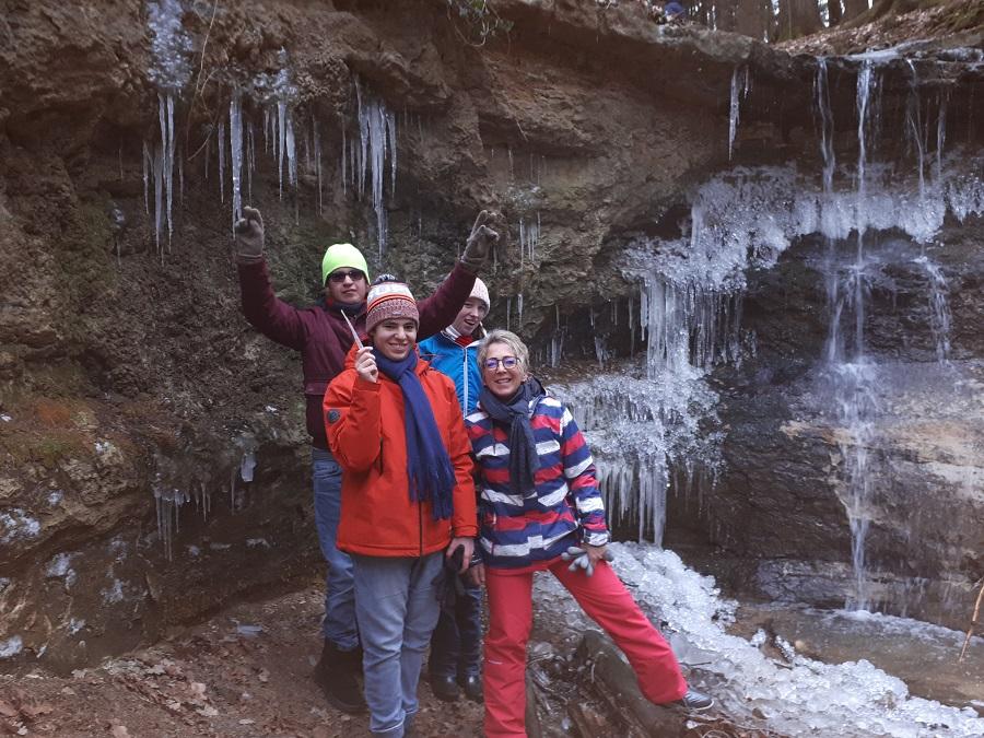 Klingendem Wasserfall fehlen einige Minusgrade