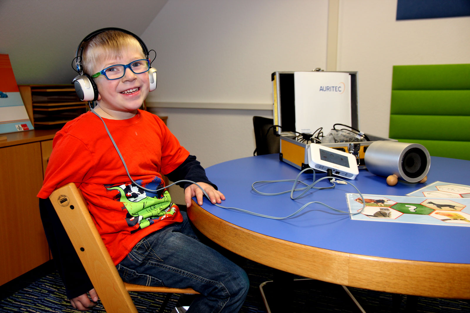 Dank großzüger Spende der Firma TEMPTON konnte die Frühförderung ein modernes Gerät zur Hördiagnositik anschaffen.