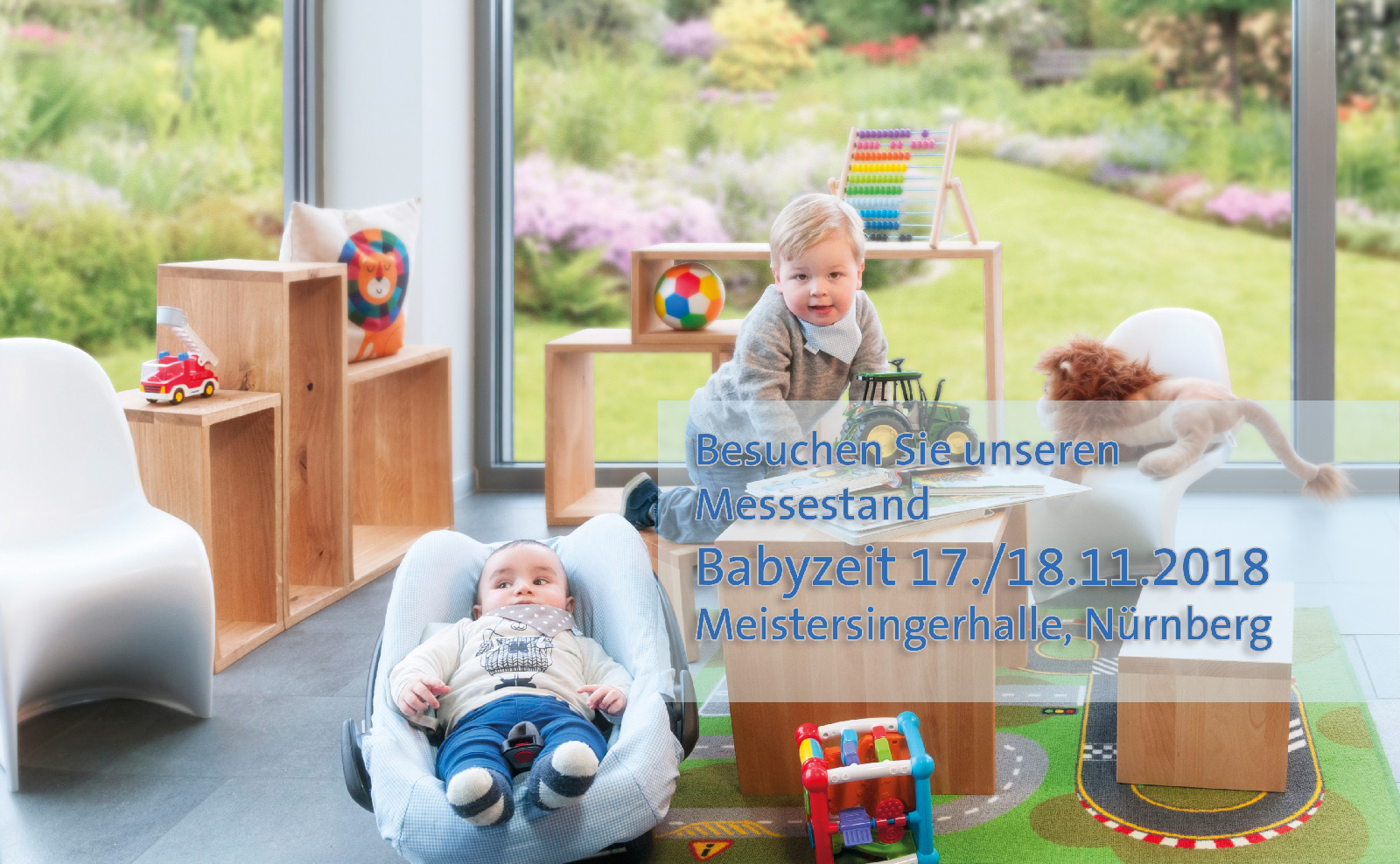 Besuchen Sie unseren Messestand auf der Babyzeit in Nürnberg, Meistersingerhalle, 17./18.11.18