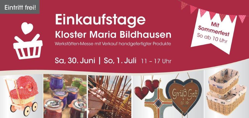 Moritzberg-Werkstätten verkaufen Eigenprodukte: Einkaufstage im Kloster Maria Burghausen – 30.6. bis 1.7., 11 bis 17 Uhr, Eintritt frei!