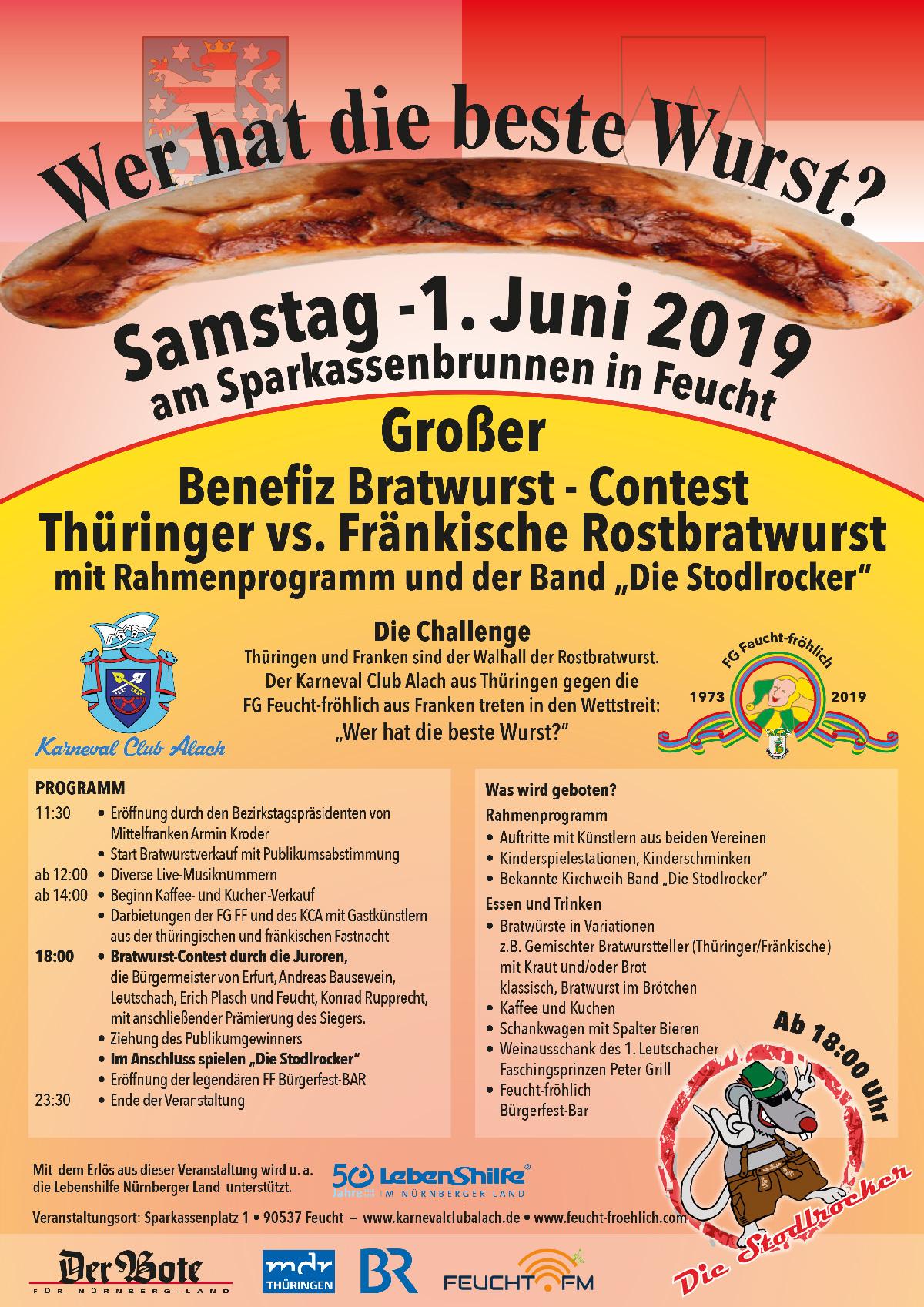 "Flyer ""Bratwurst-Challenge"", 1.6.19"