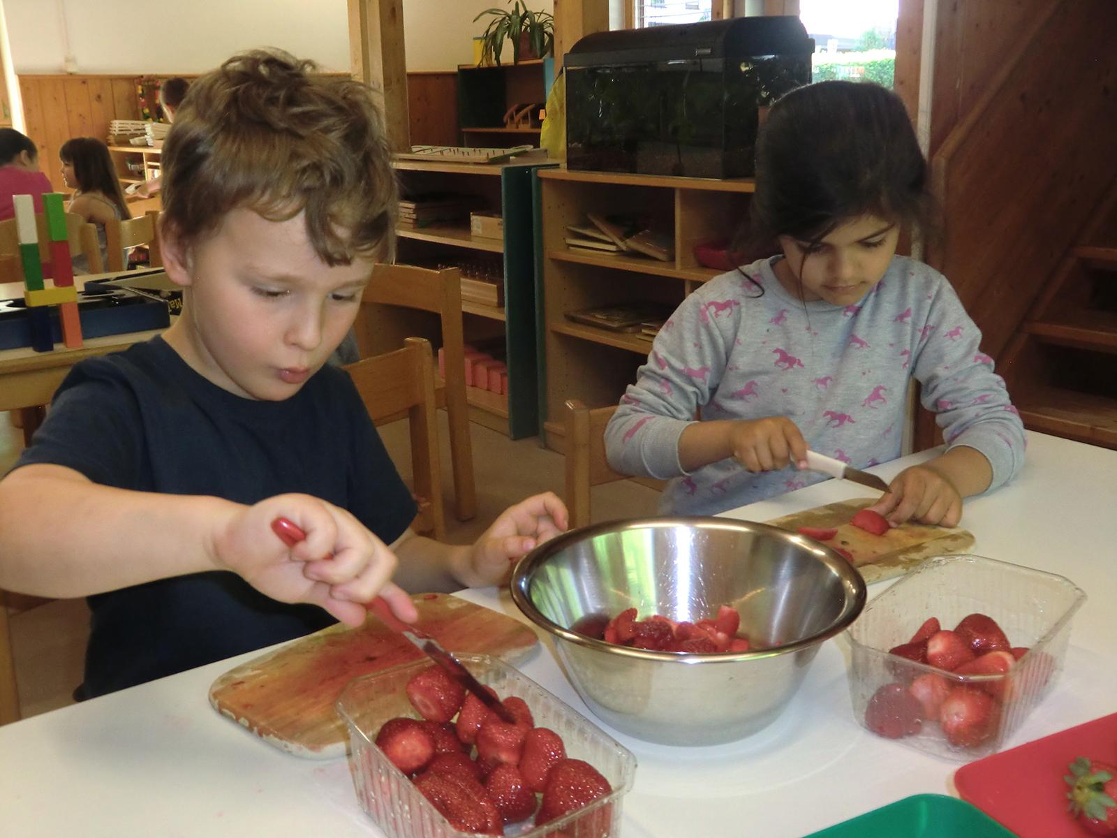 Gesunde Woche in der inklusiven Kindertagesstätte Hersbruck