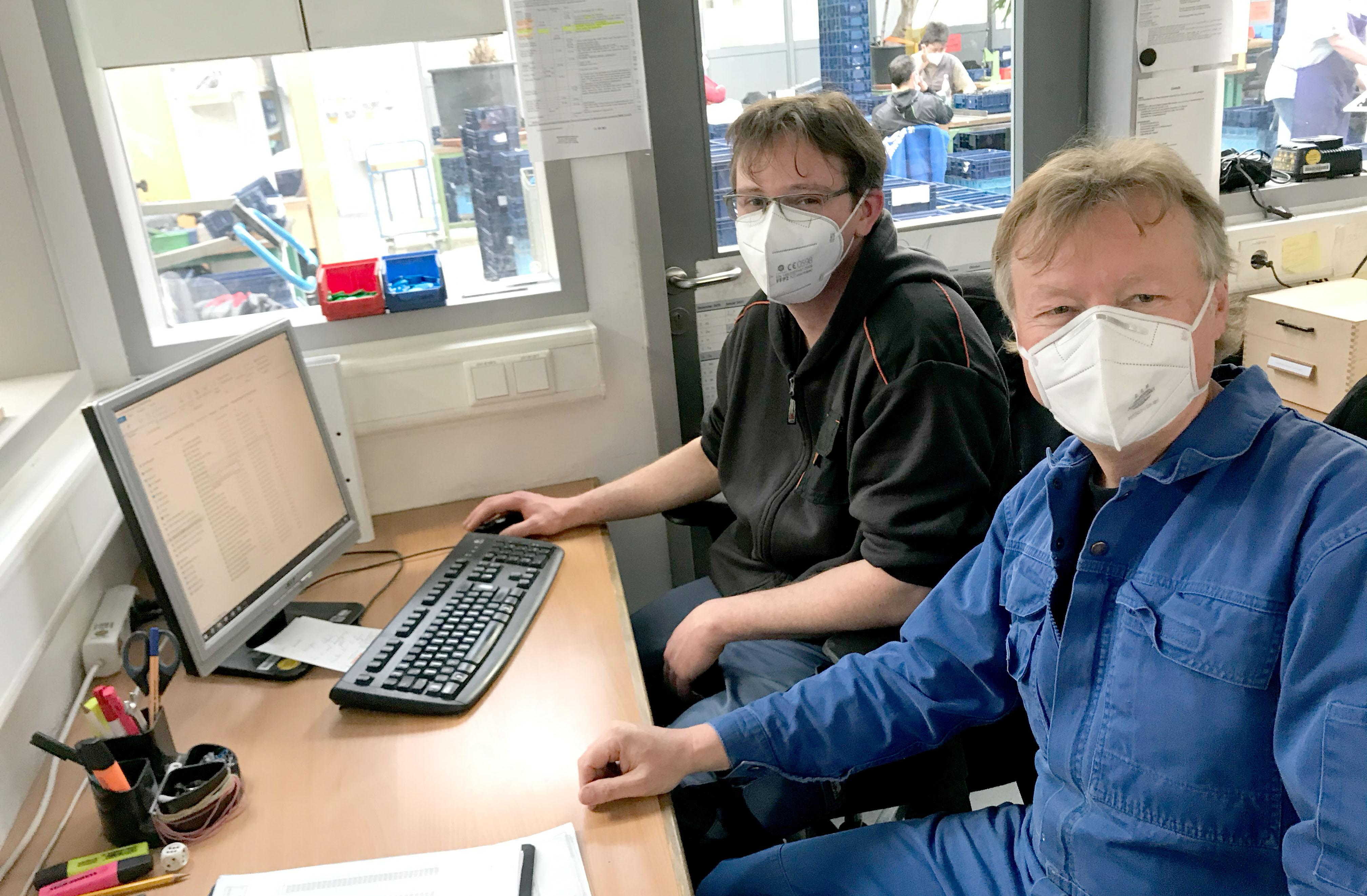 Peter Meidenbauer mit seinem neuen Kollegen Florian Christ, der für Andreas Janker kam.
