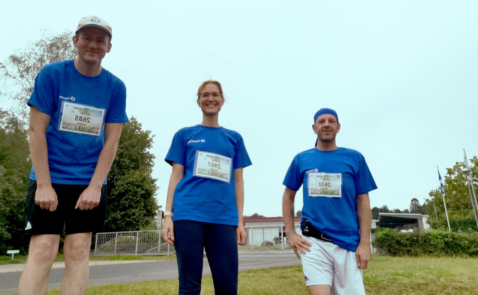 Platz 11 unter 540 teilnehmenden Unternehmen - deutschlandweit! Wohnheim-Team stellte sich der Herausforderung von Lauf-weiter.de