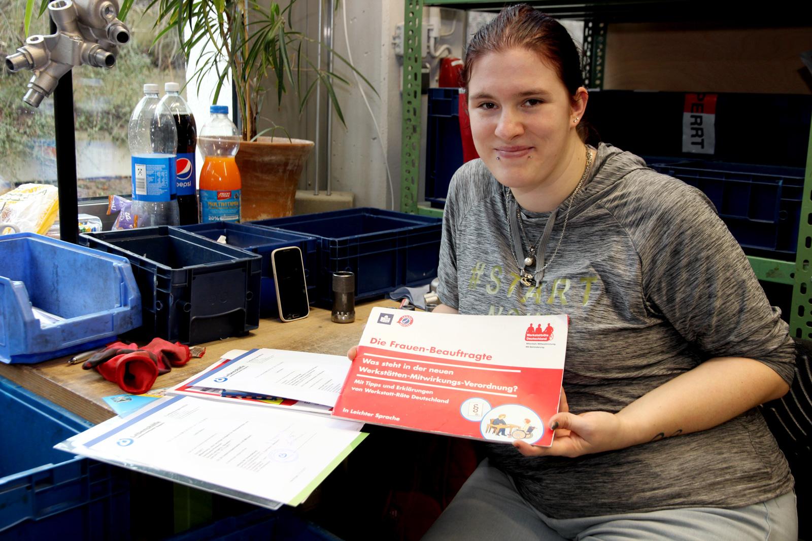 Seit rund einhundert Tagen im Amt: Lydia Stähle, stellvertr. Werkstattratsvorsitzende und Frauenbeauftragte in den Moritzberg-Werkstätten.