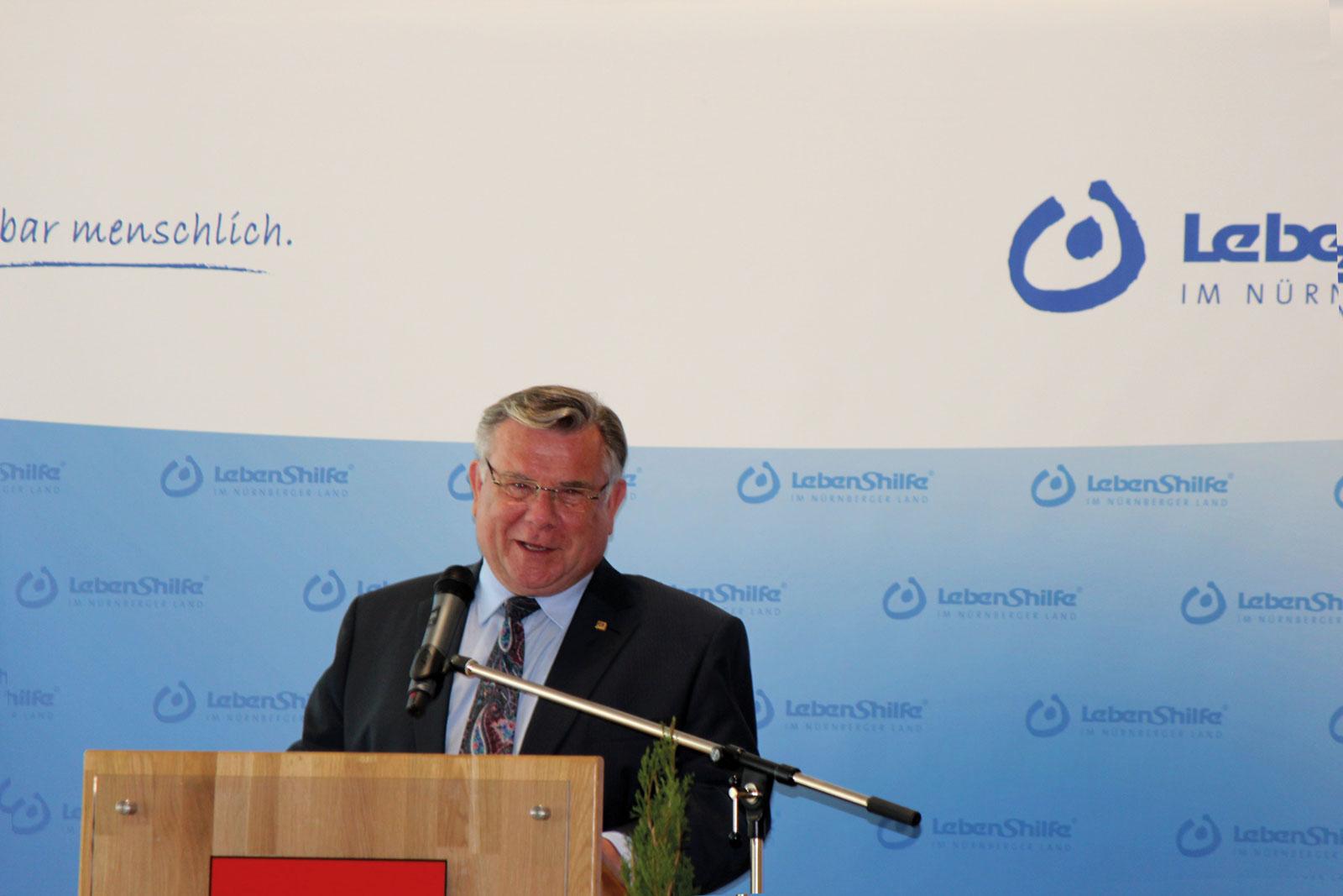Lebenshilfe Nürnberger Land-Chef John wurde auf der Mitgliederversammlung der Lebenshilfe Bayern erneut zum stellvertretenden Vorsitzenden gewählt.