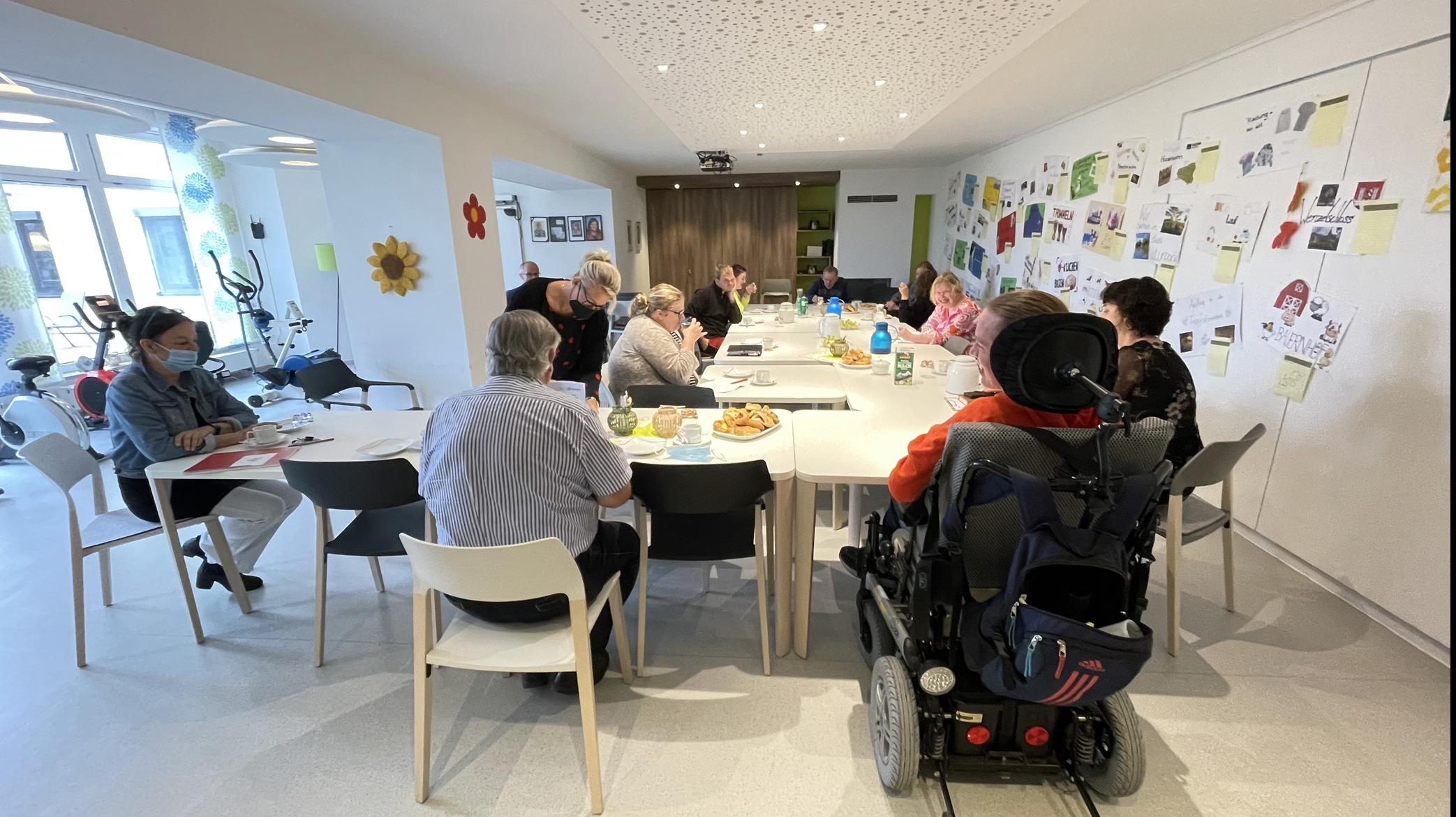 Ein Dialog auf Augenhöhe: Vorstand und Selbstvertreter*innen im Gespräch über Aktuelles aus der Lebenshilfe Nürnberger Land.