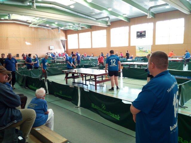 Erfolgreich: Moritzberg-Werkstätten-Team holte Edelmetall beim Inklusions-TT-Turnier am 29.04.17 in Dietenhofen/Ansbach