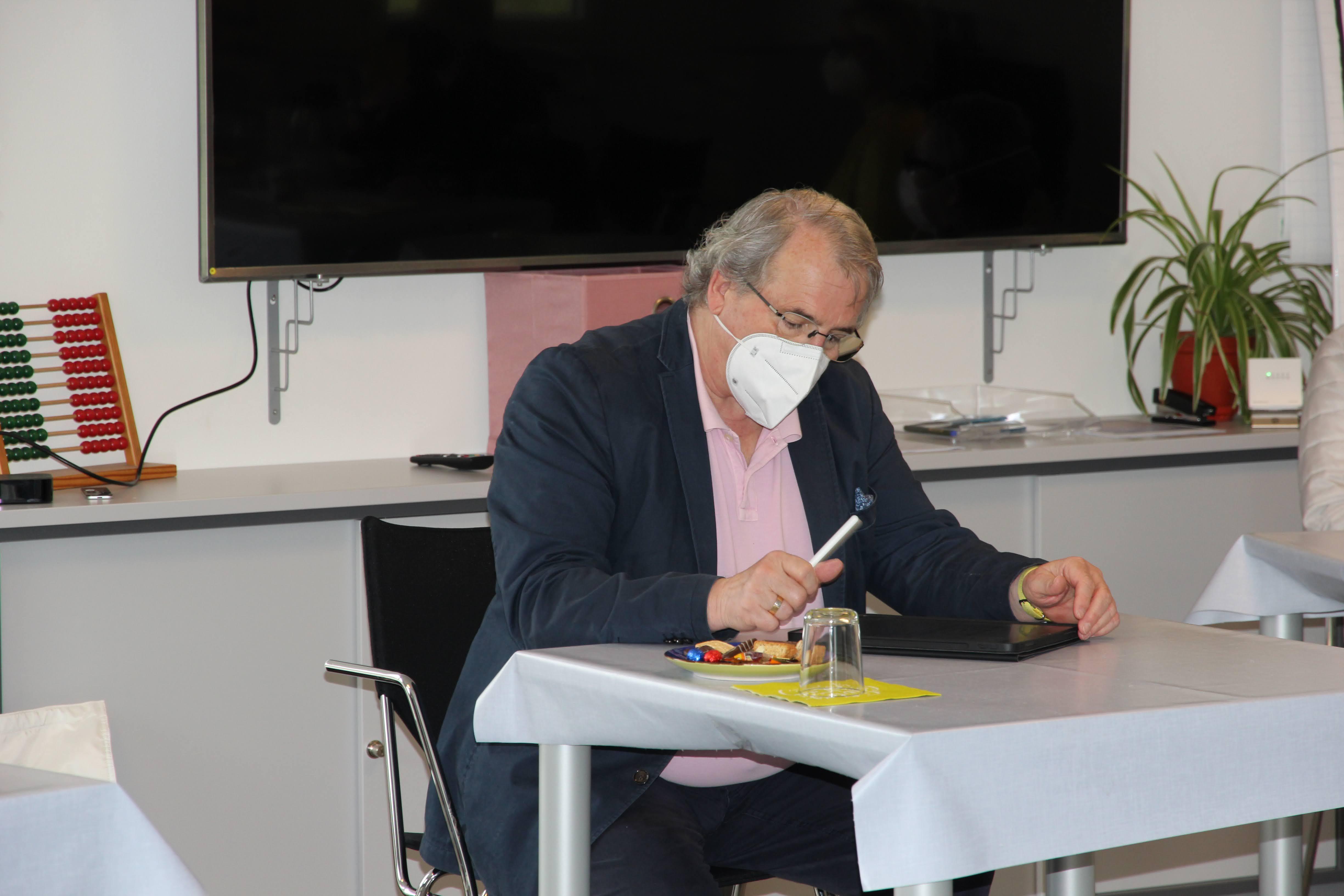 Lob für Krisenmanagement von den Auditoren Gerhard Weidemann (Foto) und Dr. Markus Reimer. Dank des Hygienekonzepts war eine Systembegutachtung auch 2021 in Präsenz möglich.