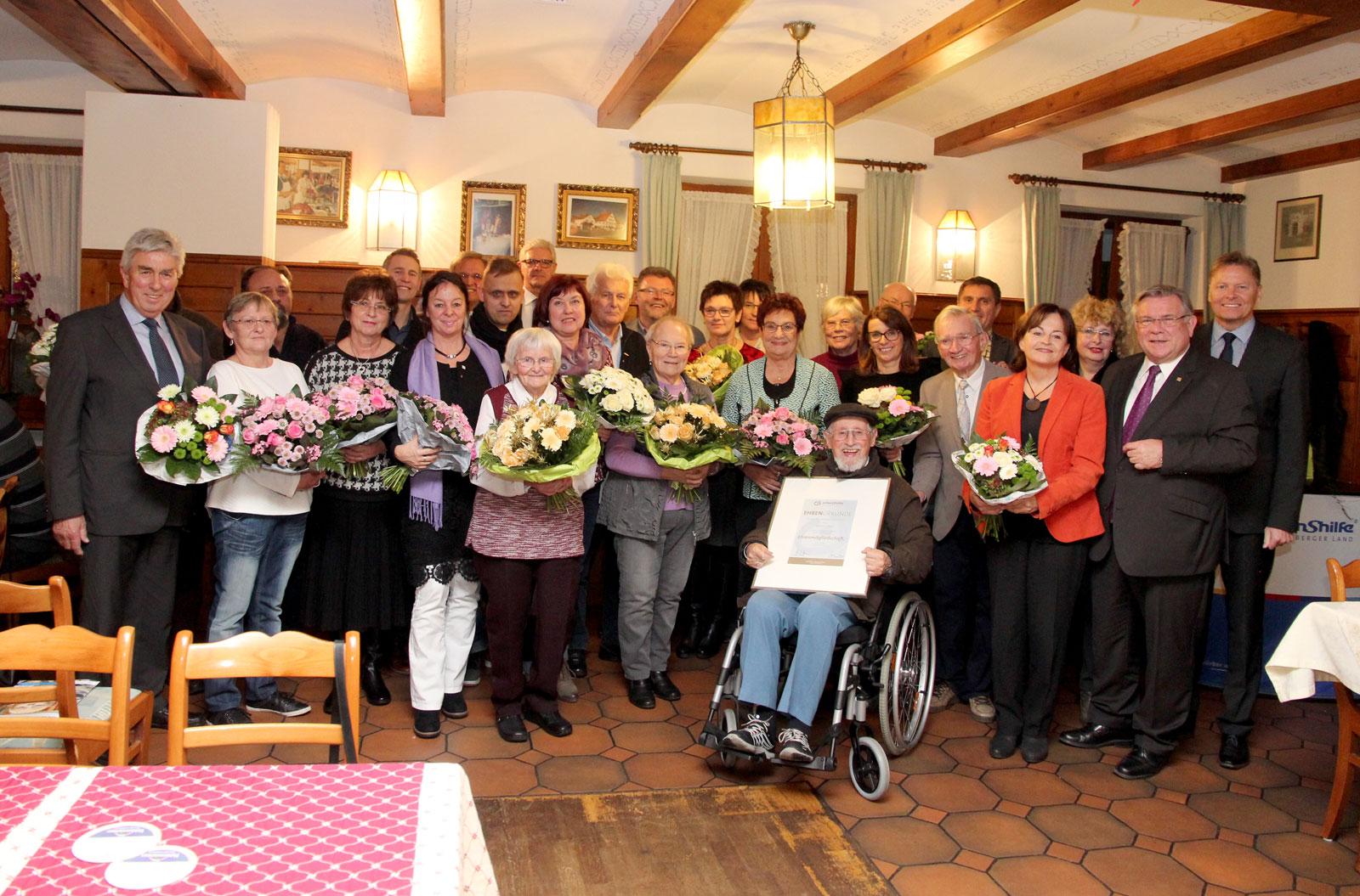 Neuwahlen und die Ehrung langjähriger Mitglieder und Verleihung der Ehrenmitgliedswürde an Werner Dumberger und Lorenz Graf waren Höhepunkte der Jahreshauptversammlung 2017.