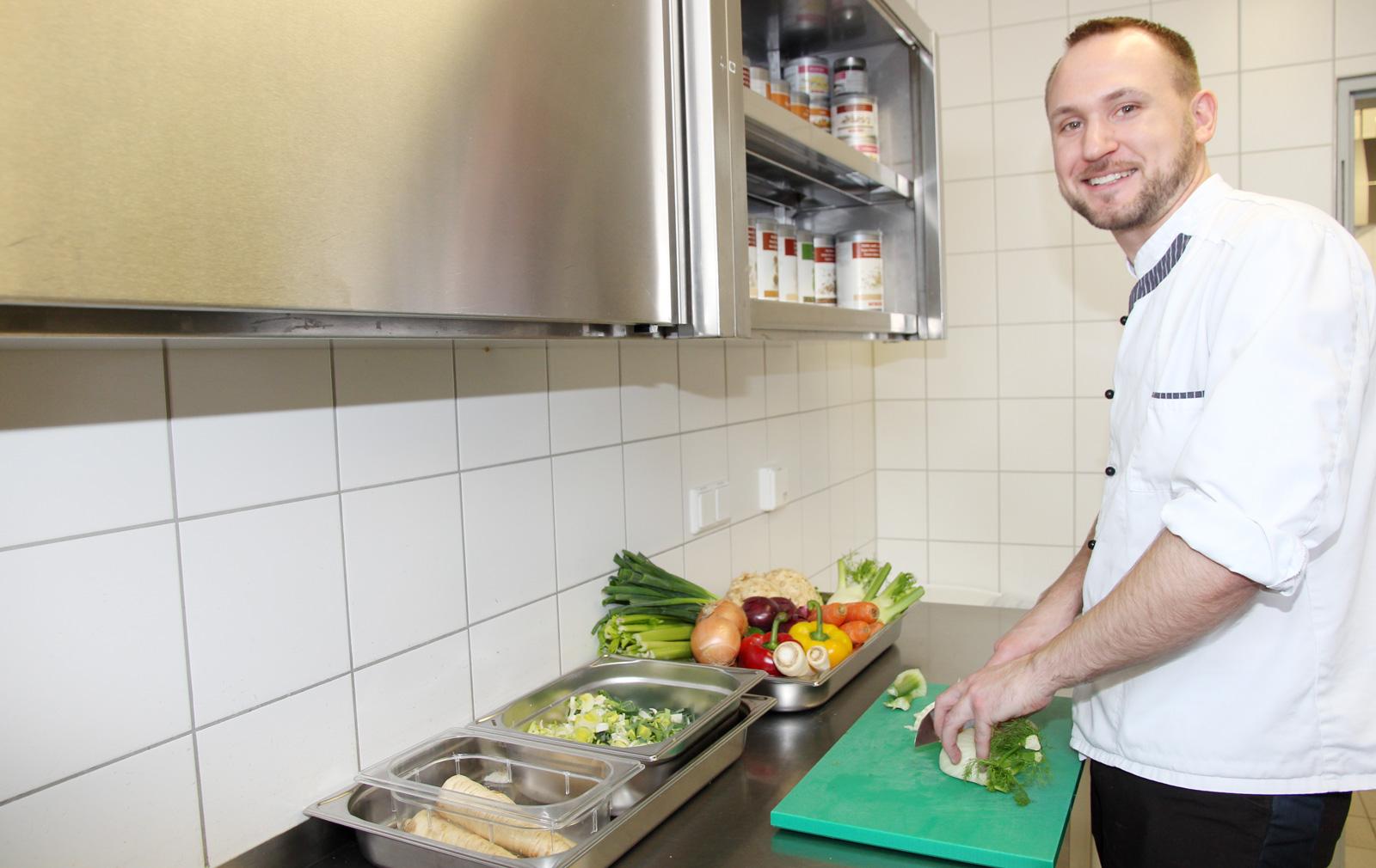 Felix Birkel ist die rechte Hand von Küchenchef Leitner.