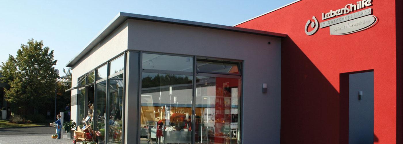 Bild zeigt den Werkstattladen in Lauf-Schönberg, Nessenmühlstr. 35, 91207 Lauf a.d. Peg.