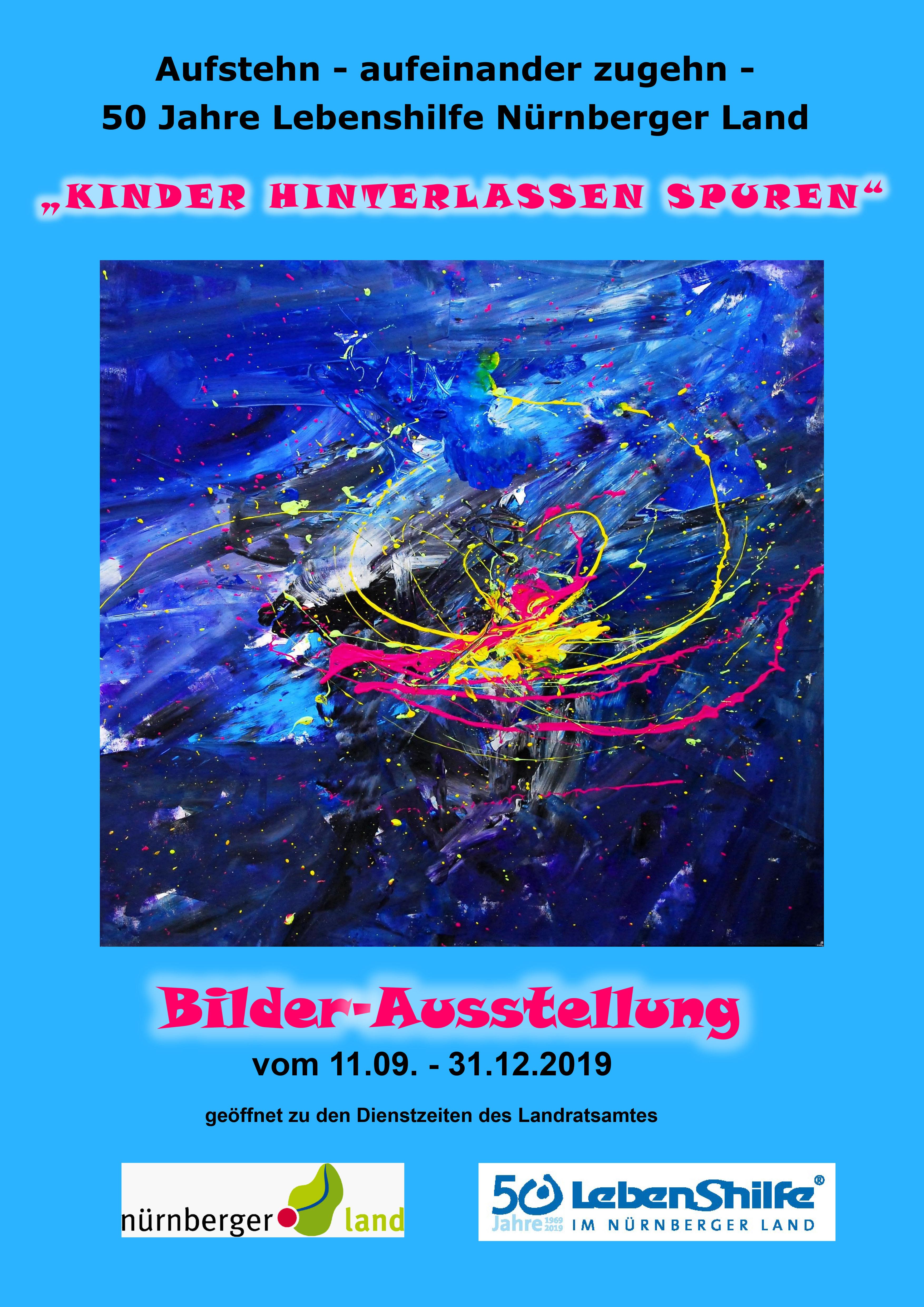 """Einladung zur Vernissage """"Kinder hinterlassen Spuren"""" am 11.9., 16 Uhr, Landratsamt"""