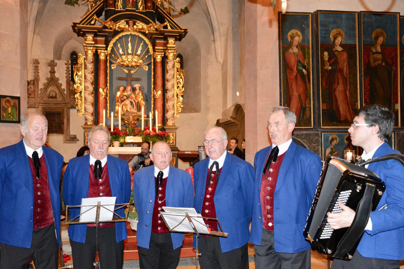 """Sing ma im Advent"": Die Hammerbachtaler Sänger."