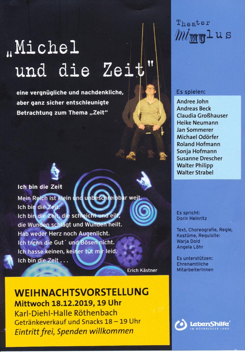 """Fyer """"Michel und die Zeit"""": Schwarzlicht, Bühnennebel und Schattenspiel verleihen dem eher abstrakten Thema Lebendigkeit."""