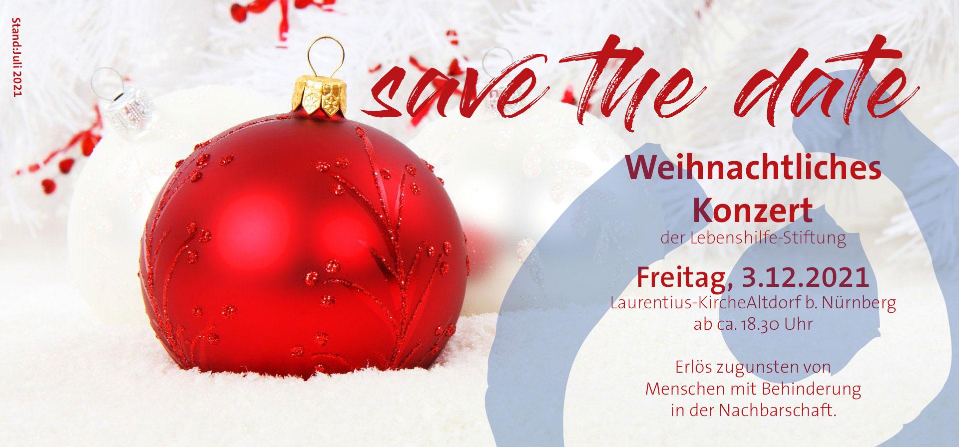 #savethedate #weihnachtskonzert2021 #stiftunglebenshilfe #3dezember #laurentiuskirche #altdorf