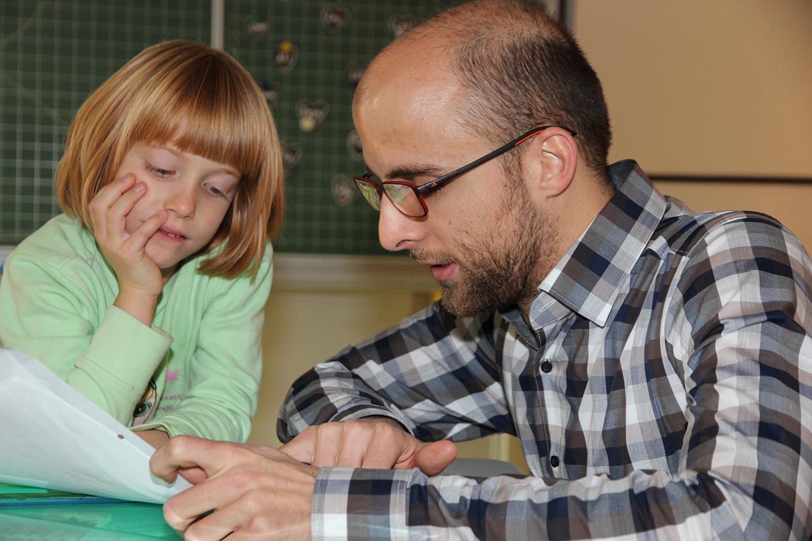 Gefragter Helfer zum Schulstart: Philipp Minkenberg.