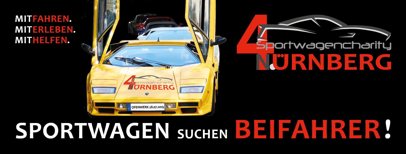 Die 4. Sportwagencharity Nürnberg startet am 28.7.2019, Ofenwerk Nürnberg – Frühförderteam ist Teil des Rahmenprogramms.